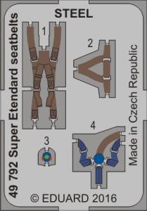 Super Etendard - Seatbelts STEEL [Kitty Hawk] · EDU 49792 ·  Eduard · 1:48