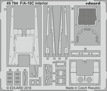 F/A-18C - Interior  [Kinetic] · EDU 49794 ·  Eduard · 1:48