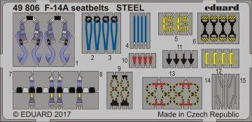 Grumman F-14A Tomcat - Seatbelts STEEL [Tamiya] · EDU 49806 ·  Eduard · 1:48