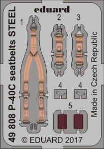 Curtiss P-40C - Seatbelts STEEL [Bronco Models] · EDU 49808 ·  Eduard · 1:48