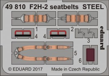 F2H-2/2P Banshee - Seatbelts STEEL [Kitty Hawk] · EDU 49810 ·  Eduard · 1:48