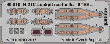 H-21C Shawnee Flying Banana - Cockpit - Seatbelts STEEL [Italeri] · EDU 49819 ·  Eduard · 1:48