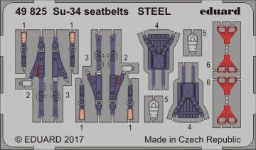 Su-34 - Seatbelts STEEL [HobbyBoss] · EDU 49825 ·  Eduard · 1:48