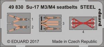 Sukhoi Su-17 M3/M4 - Seatbelts STEEL [Kitty Hawk] · EDU 49830 ·  Eduard · 1:48