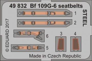 Messerschmitt Me Bf 109 G-6 - Seatbelts STEEL [Zvezda] · EDU 49832 ·  Eduard · 1:48