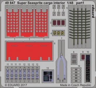 Super Seasprite - Cargo - Interior [Kitty Hawk] · EDU 49847 ·  Eduard · 1:48