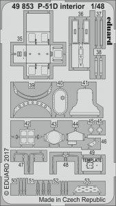 North American P-51-D Mustang - Interior [Airfix] · EDU 49853 ·  Eduard · 1:48