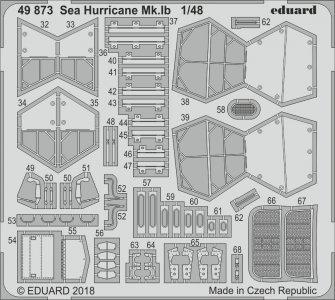 Sea Hurricane Mk.IB - Photoätzteile [Airfix] · EDU 49873 ·  Eduard · 1:48