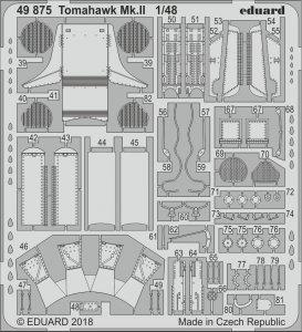 Curtiss Tomahawk Mk. II - Photoätzteile [Airfix] · EDU 49875 ·  Eduard · 1:48