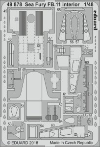Hawker Sea Fury FB.11  - Interior [Airfix] · EDU 49878 ·  Eduard · 1:48