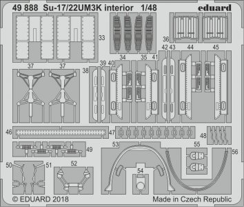 Sukhoi Su-17/22UM3K - Interior [Kitty Hawk] · EDU 49888 ·  Eduard · 1:48