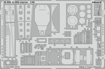 A-26B Invader - Interior [Revell] · EDU 49896 ·  Eduard · 1:48
