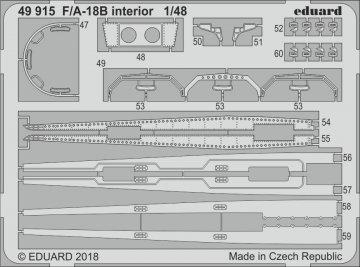 F/A-18B - Interior [Kinetic] · EDU 49915 ·  Eduard · 1:48