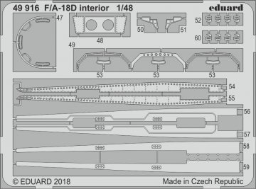F/A-18D - Interior [Kinetic] · EDU 49916 ·  Eduard · 1:48