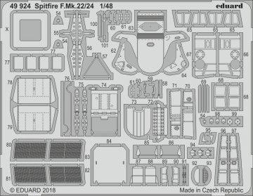 Spitfire F.Mk.22/24 [Airfix] · EDU 49924 ·  Eduard · 1:48