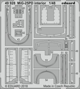 MiG-25PD - Interior [ICM] · EDU 49928 ·  Eduard · 1:48