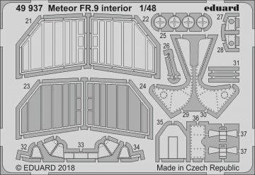 Gloster Meteor FR.9 - Interior [Airfix] · EDU 49937 ·  Eduard · 1:48