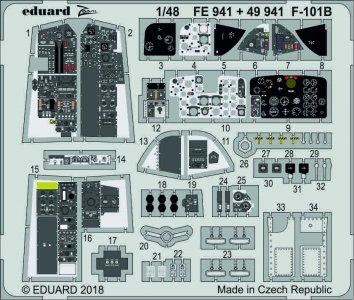 F-101B Voodoo - Interior [Kitty Hawk] · EDU 49941 ·  Eduard · 1:48