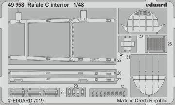 Dassault Rafale C - Interior [Revell] · EDU 49958 ·  Eduard · 1:48