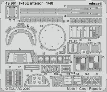 F-15E Strike Eagle - Interior [Great Wall Hobby] · EDU 49964 ·  Eduard · 1:48