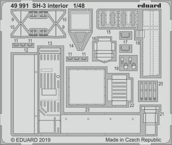 SH-3 Sea King - Interior [Hasegawa] · EDU 49991 ·  Eduard · 1:48