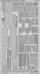 Bismarck part 2 - front area [Trumpeter] · EDU 53081 ·  Eduard · 1:200