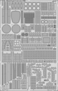 Bismarck - Part 5 - Rear area [Trumpeter] · EDU 53084 ·  Eduard · 1:200