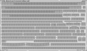 Bismarck - Part 8 - Structural railing [Trumpeter] · EDU 53090 ·  Eduard · 1:200