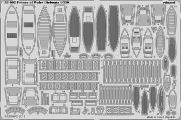 Prince of Wales lifeboats [Tamiya] · EDU 53092 ·  Eduard · 1:350