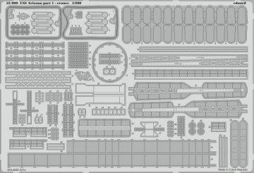 USS Arizona - Part 1 - Cranes [Trumpeter] · EDU 53099 ·  Eduard · 1:200