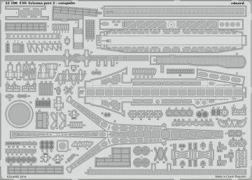 USS Arizona - Part 2 - Catapults [Trumpeter] · EDU 53100 ·  Eduard · 1:200