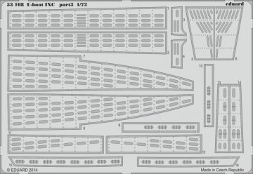 U-Boot Typ IX C - Part 3 [Revell] · EDU 53108 ·  Eduard · 1:72