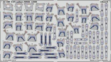USN sailors WWII S.A. · EDU 53109 ·  Eduard · 1:200