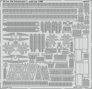 USS Arizona - Part 4 - Main top [Trumpeter] · EDU 53110 ·  Eduard · 1:200