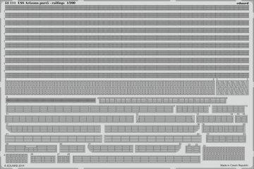 USS Arizona - Part 5 - Railings [Trumpeter] · EDU 53111 ·  Eduard · 1:200