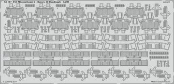 USS Missouri - Part 2 - Bofors 40 quadruple [Trumpeter] · EDU 53117 ·  Eduard · 1:200
