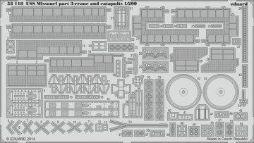 USS Missouri -Part 3 - Crane and catapults [Trumpeter] · EDU 53118 ·  Eduard · 1:200