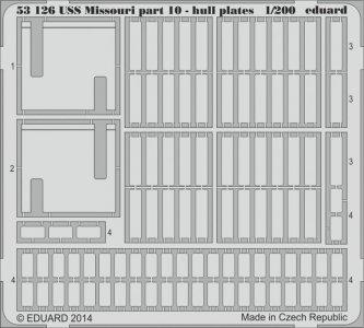 USS Missouri - Part 10 - Hull plates [Trumpeter] · EDU 53126 ·  Eduard · 1:200