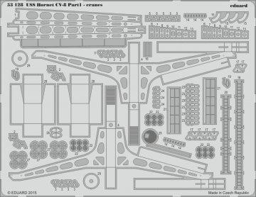 USS Hornet CV-8 - Part 1 - Cranes [Merit] · EDU 53128 ·  Eduard · 1:200