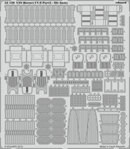 USS Hornet CV-8 - Part3 - Life boats [Merit] · EDU 53130 ·  Eduard · 1:200