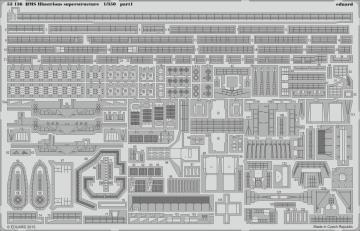 HMS Illustrious - Superstructure [Airfix] · EDU 53136 ·  Eduard · 1:350