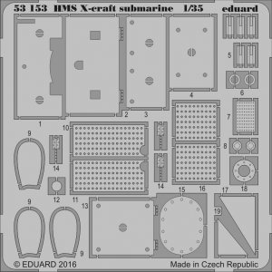 HMS X-craft submarine [Merit] · EDU 53153 ·  Eduard · 1:35