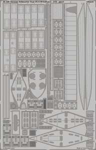 German Submarine Type IX C/40 hull - Part 2 [Revell] · EDU 53159 ·  Eduard · 1:72