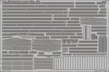 HMS King George V - Cranes & Railings [Tamiya] · EDU 53165 ·  Eduard · 1:350