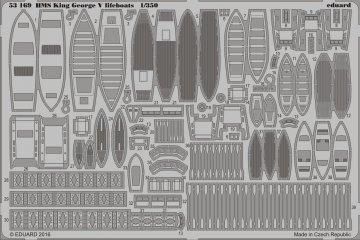 HMS King George V - Lifeboats [Tamiya] · EDU 53169 ·  Eduard · 1:350
