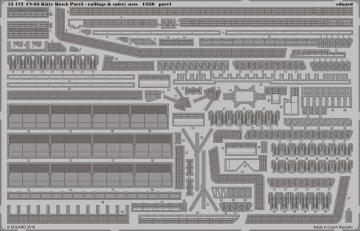 USS Kitty Hawk CV-63 - Part 3 - Railings & Safety nets [Trumpeter] · EDU 53172 ·  Eduard · 1:350
