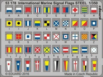 International Marine Signal Flags STEEL · EDU 53178 ·  Eduard · 1:350