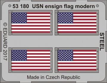 USN ensign flag modern STEEL · EDU 53180 ·  Eduard · 1:350