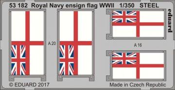 Royal Navy ensign flag WWII STEEL · EDU 53182 ·  Eduard · 1:350