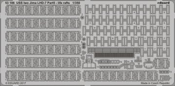 USS Iwo Jima LHD-7 - Part 5 - Life rafts [Trumpeter] · EDU 53186 ·  Eduard · 1:350